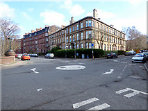 NS5667 : Garrioch Road mini roundabout by Thomas Nugent