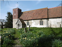 TQ9963 : St Mary's Church, Luddenham by Marathon