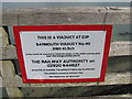 SH6214 : Railway safety 1-Barmouth Bridge, Gwynedd by Martin Richard Phelan