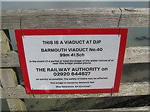 SH6214 : Railway safety 1-Barmouth Bridge, Gwynedd by Martin Richard Phelan