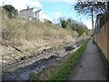 SO8404 : Tracks along the bed of the Thames & Severn Canal by Christine Johnstone