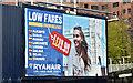 J3373 : Ryanair poster, Belfast (April 2016) by Albert Bridge