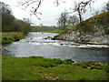 SE0261 : Bend in the River Wharfe at Loup Scar, Burnsall by Humphrey Bolton