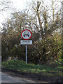 TM1556 : Roadsign off Ipswich Road by Adrian Cable