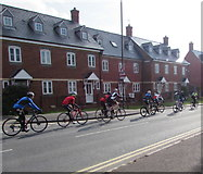 SO8005 : Sunday morning cyclists in Stonehouse by Jaggery