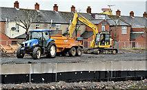 J3674 : Connswater path works, Belfast - April 2016(1) by Albert Bridge
