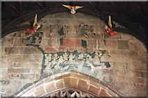 SJ3350 : Doom Painting in St Giles' Church, Wrexham by Jeff Buck