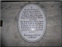 SU3981 : St Mary, Fawley: memorial (c) by Basher Eyre