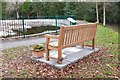NT2347 : Memorial bench to Kim Traynor, Geographer by Jim Barton