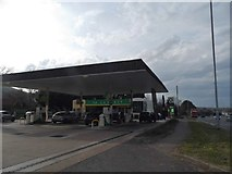 TQ5802 : BP filling station on Eastbourne Road, Willingdon by David Howard