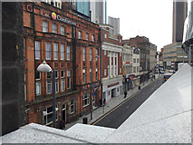 SP0786 : Station Street, Birmingham, in the shadow of New Street station by Robin Stott