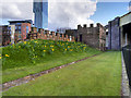 SJ8397 : Roman Ramparts and Gate Tower, Castlefield by David Dixon