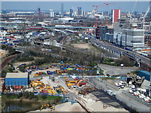 TQ3980 : Eastern Terminal Vicinity, Cable Car Route, London, E16 by David Hallam-Jones