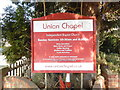 TQ9240 : Noticeboard outside Union Chapel, Bethersden by David Hillas