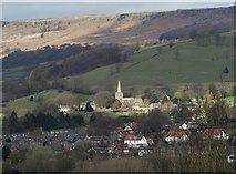 SK2381 : Hathersage Church in a pool of sunlight, by Neil Theasby