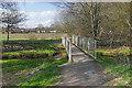 SU8555 : Footbridge, Southwood Meadows by Alan Hunt
