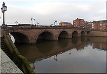 SO8454 : East side of Worcester Bridge, Worcester by Jaggery