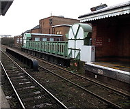 SO8455 : Bridge at the western end of Worcester Foregate Street railway station by Jaggery