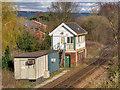 SD4412 : Burscough Bridge Junction Signal Box by David Dixon