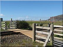 SH6214 : Across rails to Fairbourne-Gwynedd by Martin Richard Phelan