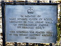 TL0692 : Plaque at the site of Fotheringhay Castle by Mat Fascione
