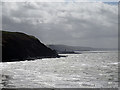 SN5781 : A view towards Aberystwyth from the Wales Coastal Path by John Lucas