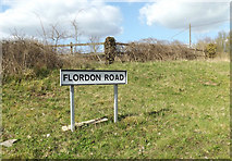 TM0954 : Flordon Road sign by Adrian Cable
