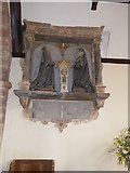 SS8403 : 17th century wall monument in St Mary's church, Upton Hellions by David Smith