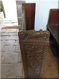 SS8403 : Bench-end in Upton Hellions church by David Smith