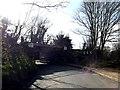 TM0954 : B1078 Coddenham Road & Coddenham Road Railway Bridge by Adrian Cable
