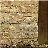 SP9599 : Bench mark, 3 Main Street, Wakerley by Alan Murray-Rust