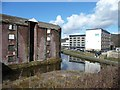 SE1437 : Buildings by the Leeds & Liverpool Canal, Shipley by Christine Johnstone