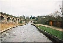 SJ2837 : The Llangollen Canal crosses the Afon Ceiriog by Tim Glover