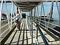 SX8851 : Gangway for the passenger ferry, Kingswear by Brian Robert Marshall