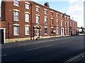 SJ5441 : Three-storey row of houses, Dodington, Whitchurch, Shropshire by Jaggery