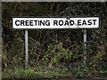 TM0658 : Creeting Road East sign by Adrian Cable