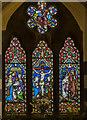 TF0471 : Stained glass window, St Clement's church, Fiskerton by Julian P Guffogg