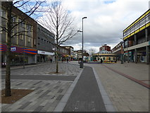 TL0506 : Part of Hemel Hempstead town centre in Marlowes by Jeremy Bolwell