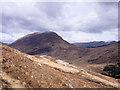 NN1632 : Rock exposure on slope above Glen Strae by Trevor Littlewood