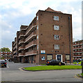 TQ3277 : Landor House flats, Camberwell by Robin Stott