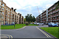 TQ3277 : Open space between Landor House and Lamb House, Camberwell by Robin Stott