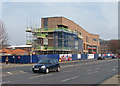 SK5738 : London Road: new Fire Station taking shape by John Sutton