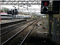 SP3378 : Virgin Train departing Coventry for Euston  by Rich Tea