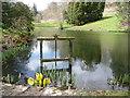 SJ2106 : Penstock, Stable Pond, Powis Castle by Humphrey Bolton
