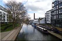 TQ3283 : Canal from Shepherdess Road Bridge by DS Pugh