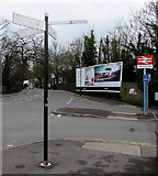 SO9322 : Queen's Road signpost, Cheltenham by Jaggery