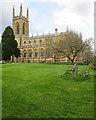 SP2556 : In Hampton Lucy churchyard by John Sutton