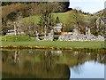 SO0571 : Abaty Cwm Hir (Cwmhir Abbey) Ruins and Lake by David Dixon