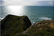 SW6521 : Rock outcrop at Pedngwinian, from the South West Coast Path by Christopher Hilton