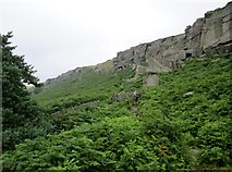 SK2384 : Footpath  up  to  Stanage  Edge by Martin Dawes